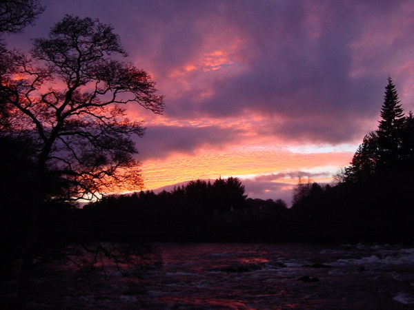 Sunset On The River Tay