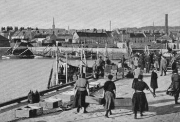Old Photograph Arbroath Harbour Scotland