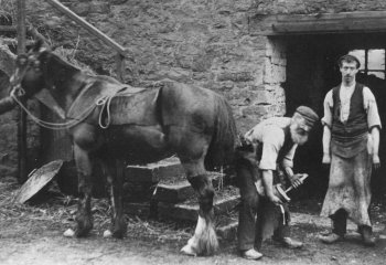Old Photograph Blacksmith Scotland
