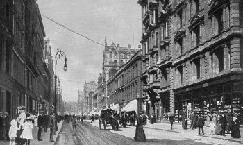 Old Photograph Buchanan Street Glasgow Scotland