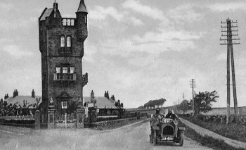 Old Photograph Burns Memorial Tower Mauchline Scotland