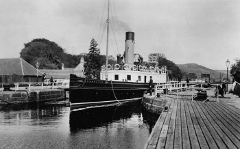 Old Photograph Caledonian Canal Scotland