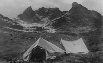 Old Photograph Camping Highlands Scotland