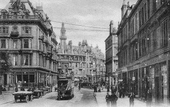 Old Photograph Charing Cross Glasgow Scotland