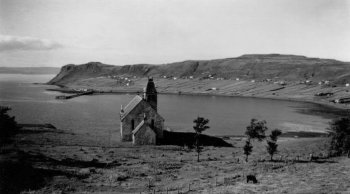 Old Photograph Church Uig Isle Of Skye Scotland