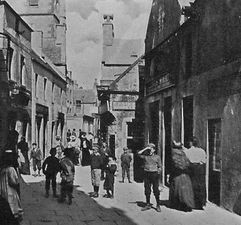 Old Photograph Commercial Street Lerwick Scotland