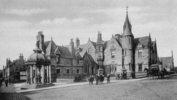 Old Photograph County Building Falkirk Scotland