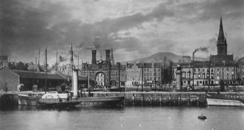 Old Photograph Docks Dundee Scotland
