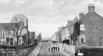 Old Photograph Douglas Road Leslie Fife Scotland