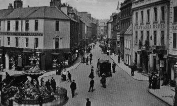 Old Photograph English Street Dumfries Scotland