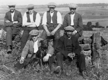 Old Photograph Farm Workers Scotland