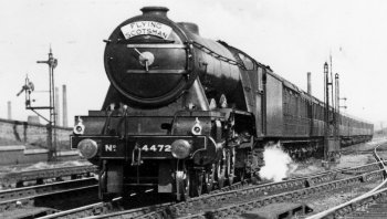 Old Photograph Flying Scotsman Scotland