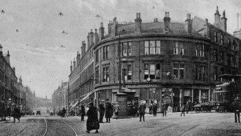 Old Photograph Garscube Road Glasgow Scotland