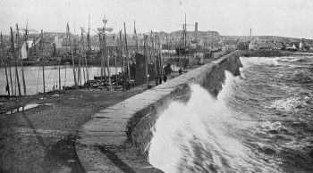 Old Photograph Arbroath Harbour, Scotland.