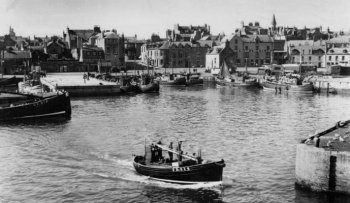 Old Photograph Harbour Fraserburgh Scotland