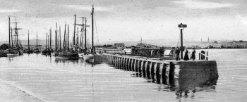 Old Photograph Harbour Nairn Scotland