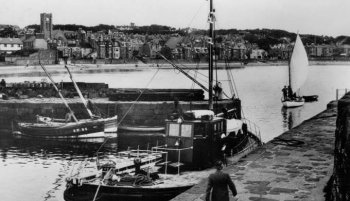 Old Photograph Harbour North Berwick Scotland
