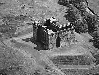 Old Photograph Hermitage Castle Scotland