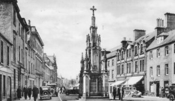 Old Photograph High Street Forres Scotland