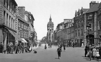 Old Photograph High Street Hawick Scotland