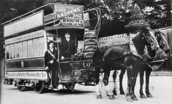 Old Photograph Horse Drawn Tram Scotland