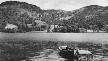 Old Photograph Loch Achray And Trossachs Hotel Scotland