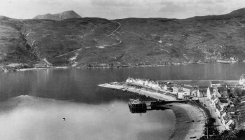 Old Photograph Loch Broom Scotland