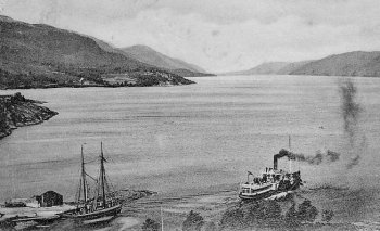 Old Photograph Loch Ness Scotland