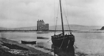 Old Photograph Lochranza Castle Scotland