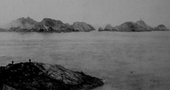 Old Photograph Muckle Flugga Lighthouse Scotland