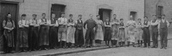 Old Photograph Of Factory Workers Scotland