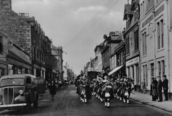 Old Photograph Pipe Band Fort William Scotland