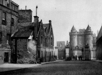 Old Photograph The Palace of Holyroodhouse Edinburgh Scotland