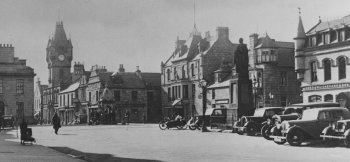 Old Photograph The Square Huntly Scotland