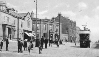Old Photograph Tram Airdrie Scotland