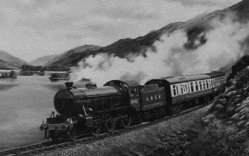 Old Photograph West Highland Line Scotland