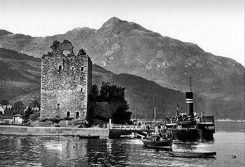 Old Photograph of Carrick Castle Scotland