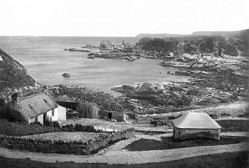 Old Photograph of Fishing Cove near Macduff Scotland