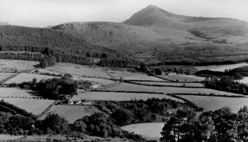 Old Photograph of Goat Fell Arran Scotland