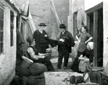 Old Photograph of Umbrella Seller Scotland