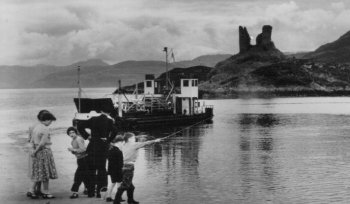 Old photograph Castle Moil Skye Scotland