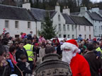 Santa arrives in Dunkeld