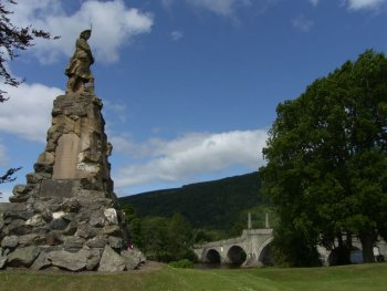 Aberfeldy Black Watch Monument Scotland