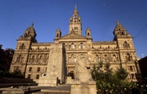 George Square and City Chambers Glasgow Photograph