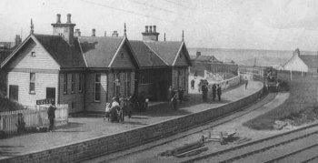 Old Photograph of Railway Station Cullen Scotland