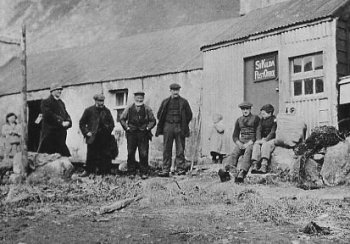 Old Photograph of St Kilda Post Office Scotland