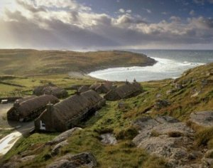 Photograph Black Houses Isle Of Lewis Scotland
