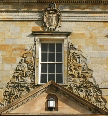 Photograph Carving Front Door Kinross House Scotland