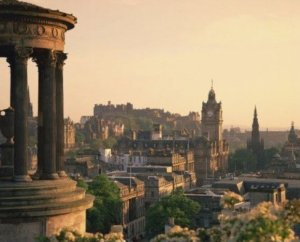 Photograph Dugald Stewart Monument Calton Hill Edinburgh Scotland