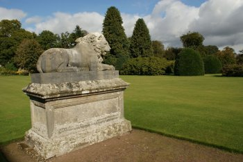 Photograph Lion Sculpture Kinross House Scotland